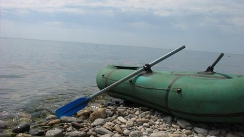выход в черное море на надувной лодке